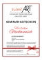 "Preview: Pastry seminar gift voucher ""Congratulations"" at sweetART"