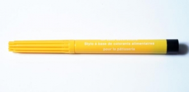Yellow food color pen water soluble at sweetART
