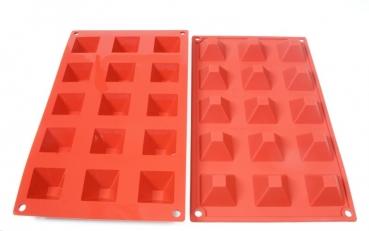 Pastry silicone mold pyramid small at sweetART