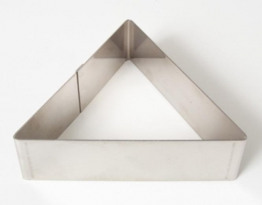 Professional cake ring Triangle 14 cm x 4 cm at sweetART