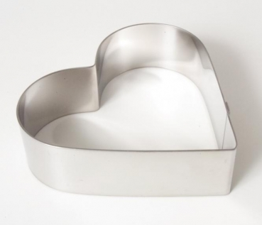 Professional cake ring Heart 12 cm x 4 cm at sweetART