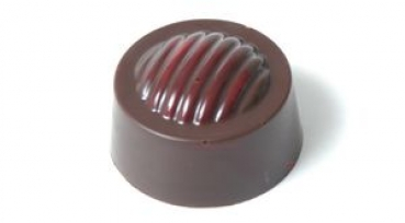 Praline mould round ripple pattern at sweetART