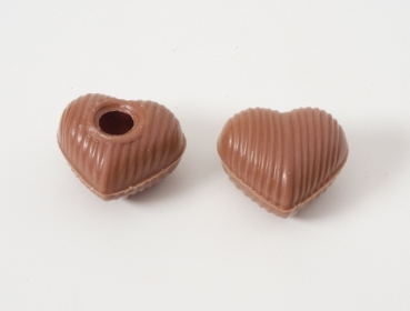 3 set - assorted mini chocolate heart hollow shells at sweetART -2