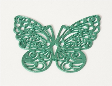 Sweet lace decor butterfly green, already baked at sweetART