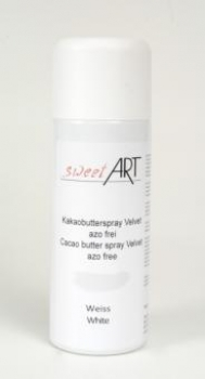 Cocoa butter velvet spray white 400 ml at sweetART