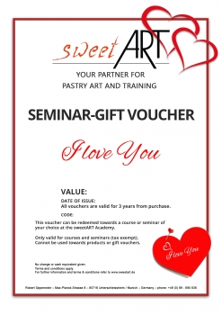 "Pastry seminar gift voucher ""I Love You"" at sweetART-1"