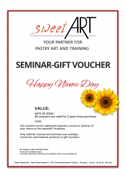 "Pastry seminar gift voucher ""Name Day"" at sweetART -1"