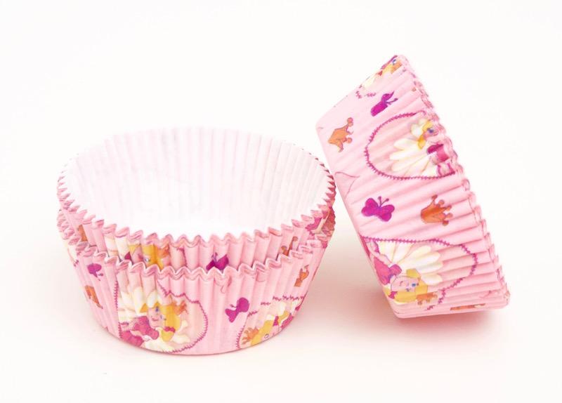 Cupcakes Paper Cup 60 Pieces Pink Princesssweetart