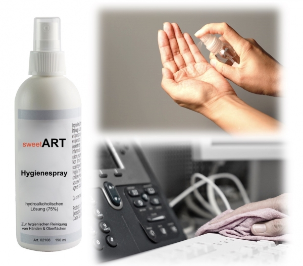 Hygiene spray 190 ml at sweetART