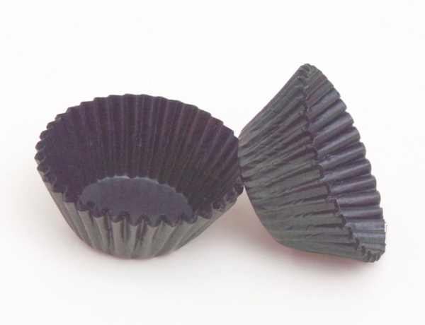 Praline paper cup 100 pieces black at sweetART