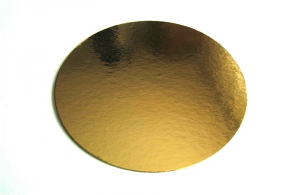 Gold cake board small 9 cm at sweetART