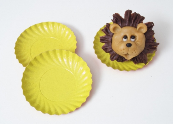 Pastry paper tartlet cup yellow 9 cm 200 pieces at sweetART