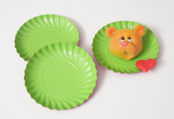 Pastry paper tartlet cup green 9 cm 200 pieces at sweetART