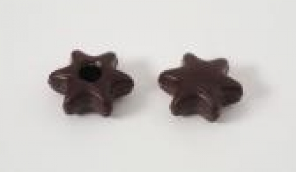 42 pcs. dark chocolate star hollow shells at sweetART