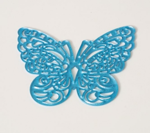 Sweet lace decor butterfly blue, already baked at sweetART
