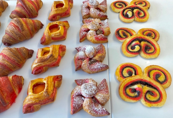Baked Danish pastry with apricot