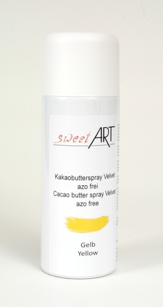 Cocoa butter velvet spray yellow 400 ml at sweetART