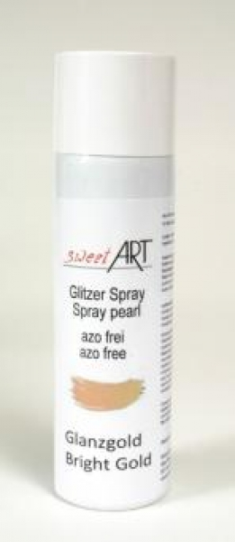 Glitter Pearl Spray Gold 250 ml food save at sweetART