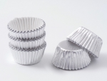 Praline paper cup 75 pieces silver