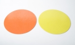Yellow / Orange cake discs 23,8 cm, 10 pieces