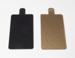 Gold / Black Card board Rectangular 9,5 x 5,5 cm 10 pieces