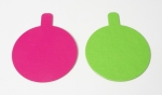 Violett / Green small cake boards Round 8 cm 10 items