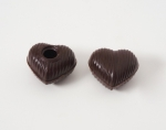 54 Dark Chocolate Heart Shells with Recipe Suggestion