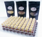 White Chocolate Truffle Shell - with Arriba premium chocolate in a set of 3
